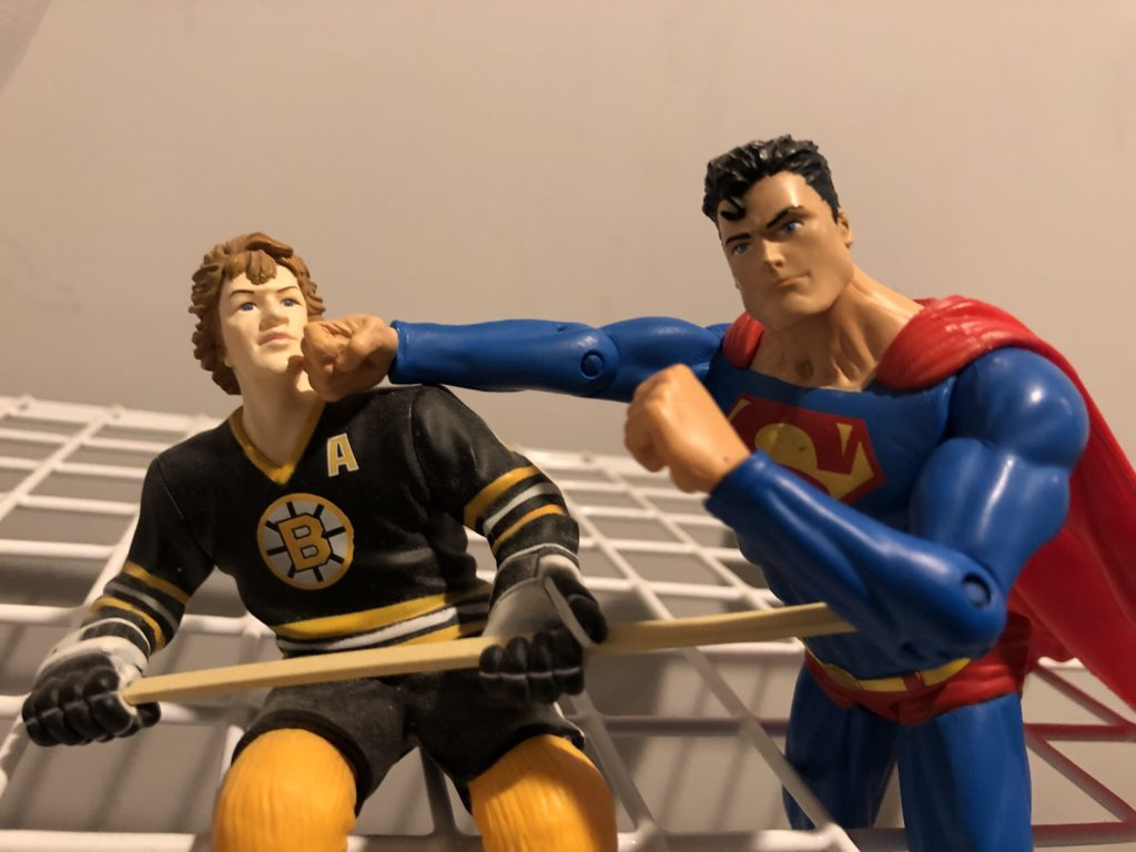 Actions Figures, Superman, and Hockey Star Bobby Orr Scuffline