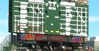 Scoreboard At Wrigley Field