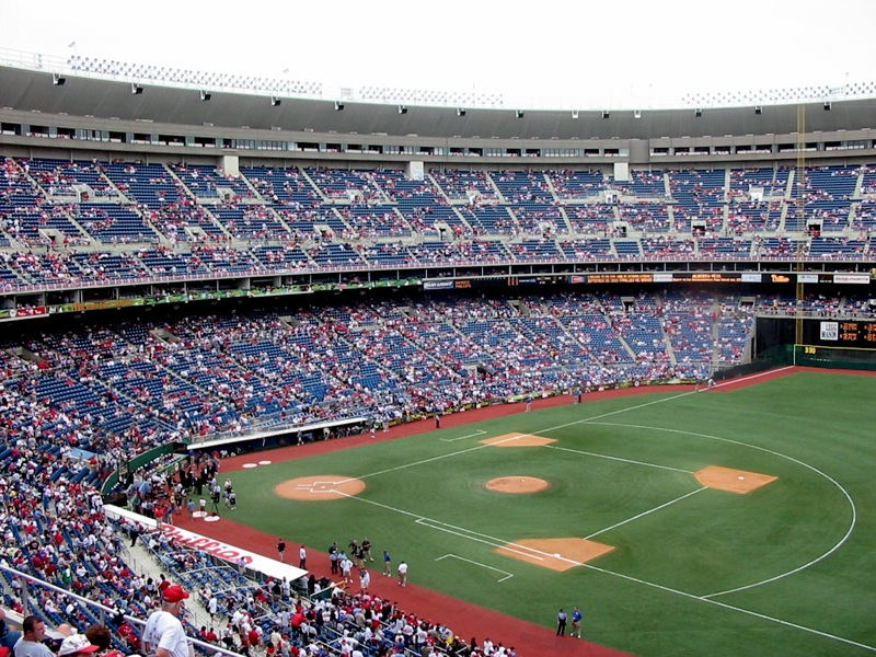 Baseball diamond, Veterans Stadium in Philadelphia