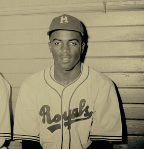 Jackie Robinson in Montreal Royals uniforme