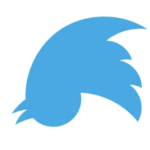 Upside-Down Twitter Logo